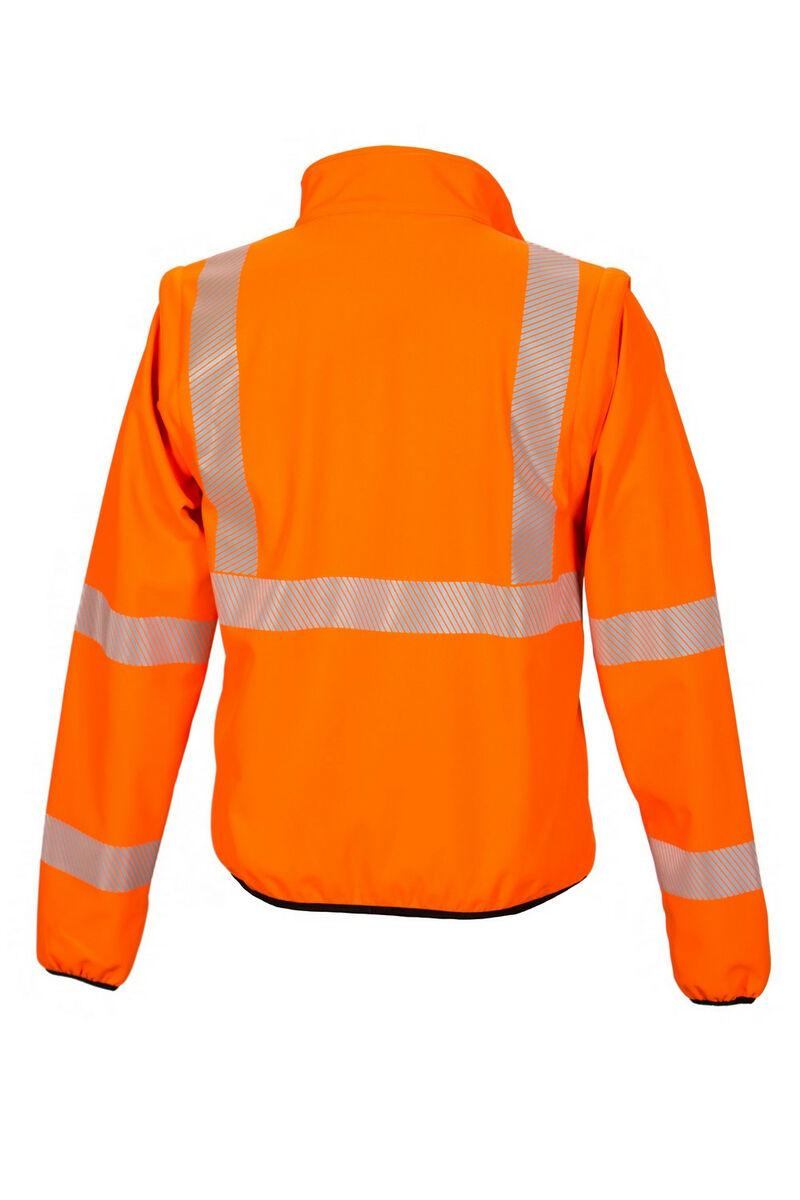 Huomiovärinen softshell pusero oranssi EN 20471 lk.2 Priha
